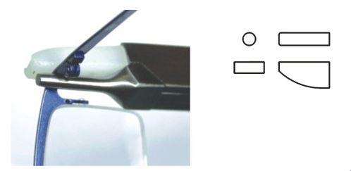 2603001 - Alicate Haste Lateral Interior Mod Vanin  -Contém 1 Peça