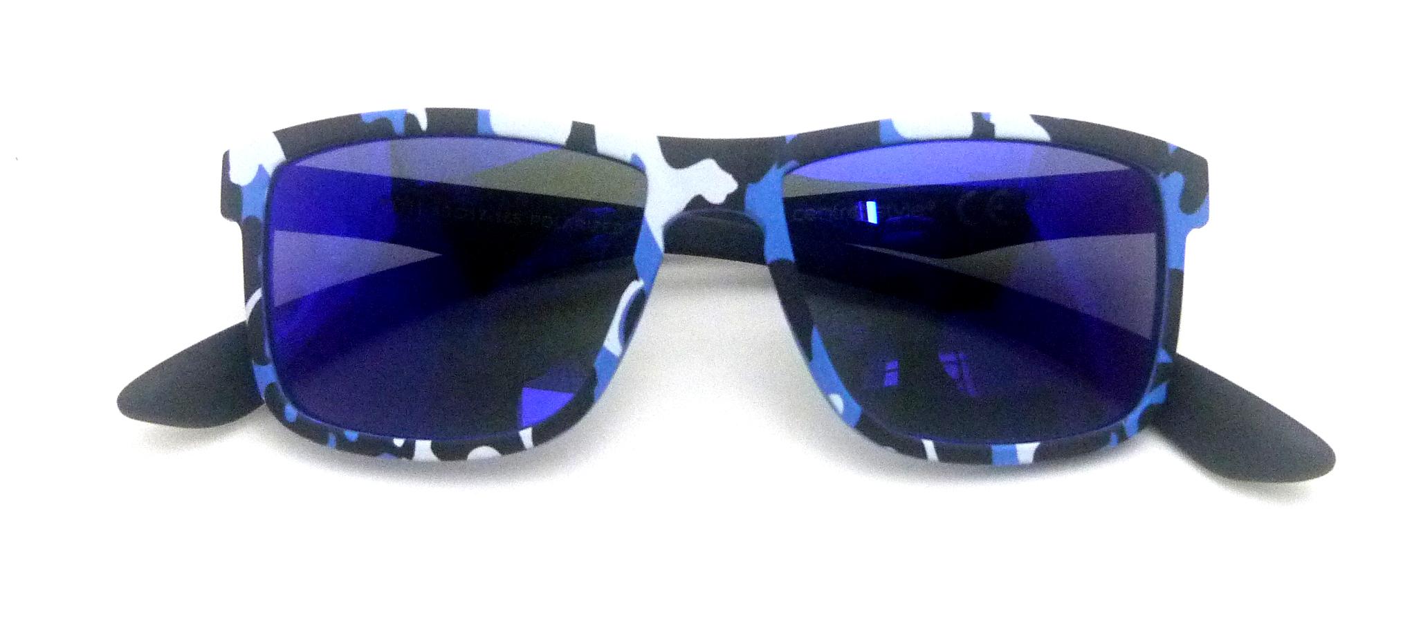 0215111 - Óculos-Solar CS Koala Camuflado 49x17 Azul Mod 15111 FLAG 9  -Contém 1 Peça