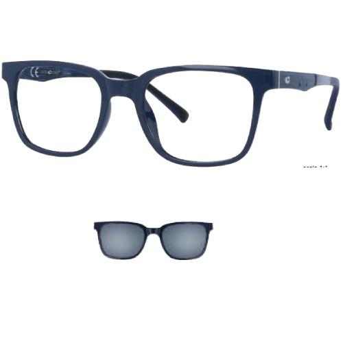 0256369 - Armação Ultem 50x19 Azul Escuro Brilhante+Clip Brilhante e Lente Cinza Mod 56369  -Contém 1 Peça