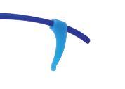 0201381 - Stopper Silicone Médio Azul Mod 1381  -Contém 6 Peças