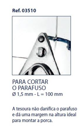 0203510-Alicate Corte Parafuso Griff M1,5 mm Mod 3510 FLAG E - Contém 1 Peça  - SOB ENCOMENDA
