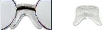 0200476 - Plaqueta 02 Silicone/Encaixe Ponte Anatomica 12mm Mod 476 FLAG 9  -Contém 2 Peças