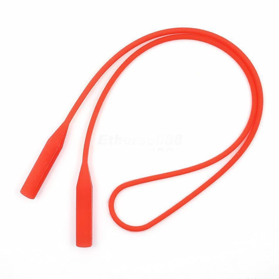 0103035 - Cordão 01 Silicone Terminal Redondo Vermelho Mod Vanin  -Contém 3 Peças