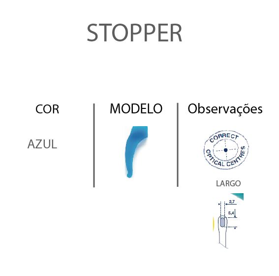 0201385 - Stopper Silicone Grande Azul Mod 1385 - Contém 6 Peças