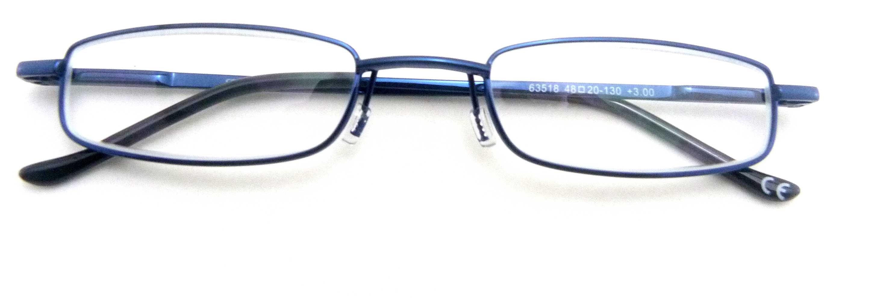 0263518 - Óculos Leitura Flex AT +3,00 Azul Mod 63518 FLAG 9  -Contém 1 Peça