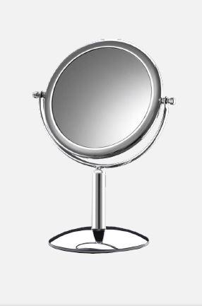4410356 - Espelho 44 Mesa Dupla Face Platinum Mod 10356 FLAG 9  -Contém 1 Peça