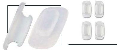 0201725 - Plaqueta 02 Silicone/Encaixe System3 Quadrada 12,5mm Mod 1725  -Contém 20 Peças