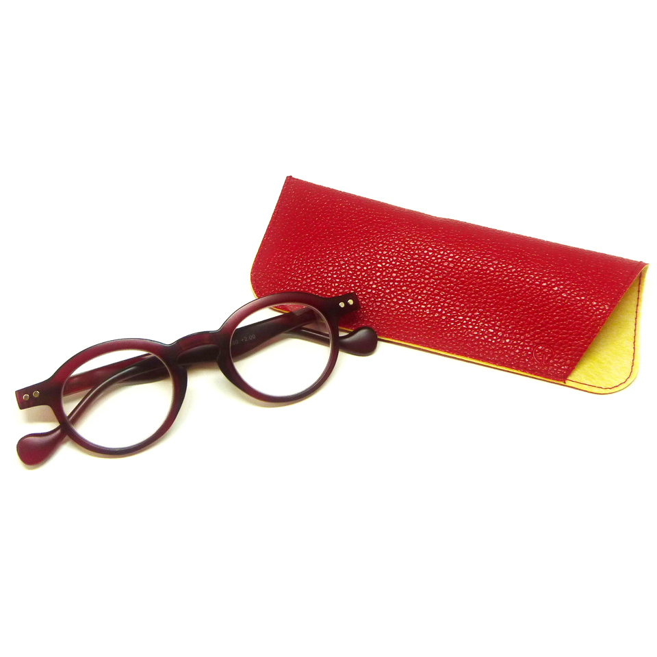 0860032-Óculos Leitura Redondo Vermelho +1,50 - Contém 1 Peça  - ENTREGA IMEDIATA