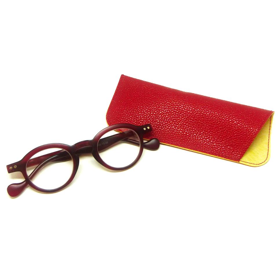 0860031-Óculos Leitura Redondo Vermelho +1,00 - Contém 1 Peça  - ENTREGA IMEDIATA
