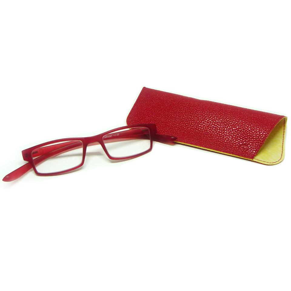 0869033 - Óculos Leitura Retangular Vermelho +2,00 Mod AR5087D - Contém 1 Peça