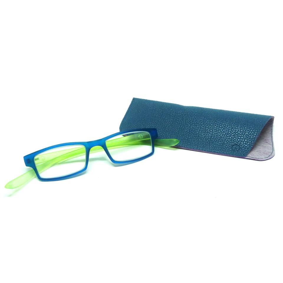 0869051 - Óculos Leitura Retangular Azu/Verde +1,00 Mod AR5087 - Contém 1 Peça