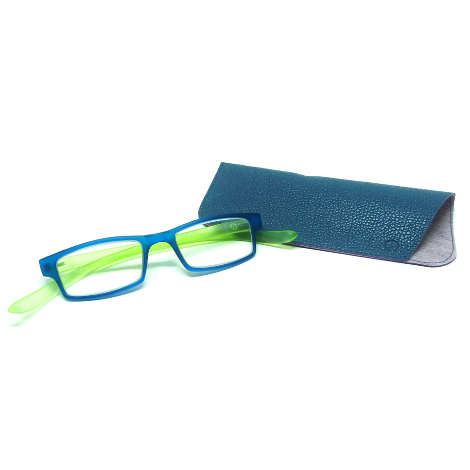0869055 - Óculos Leitura Retangular Azu/Verde +3,00 Mod AR5087 - Contém 1 Peça