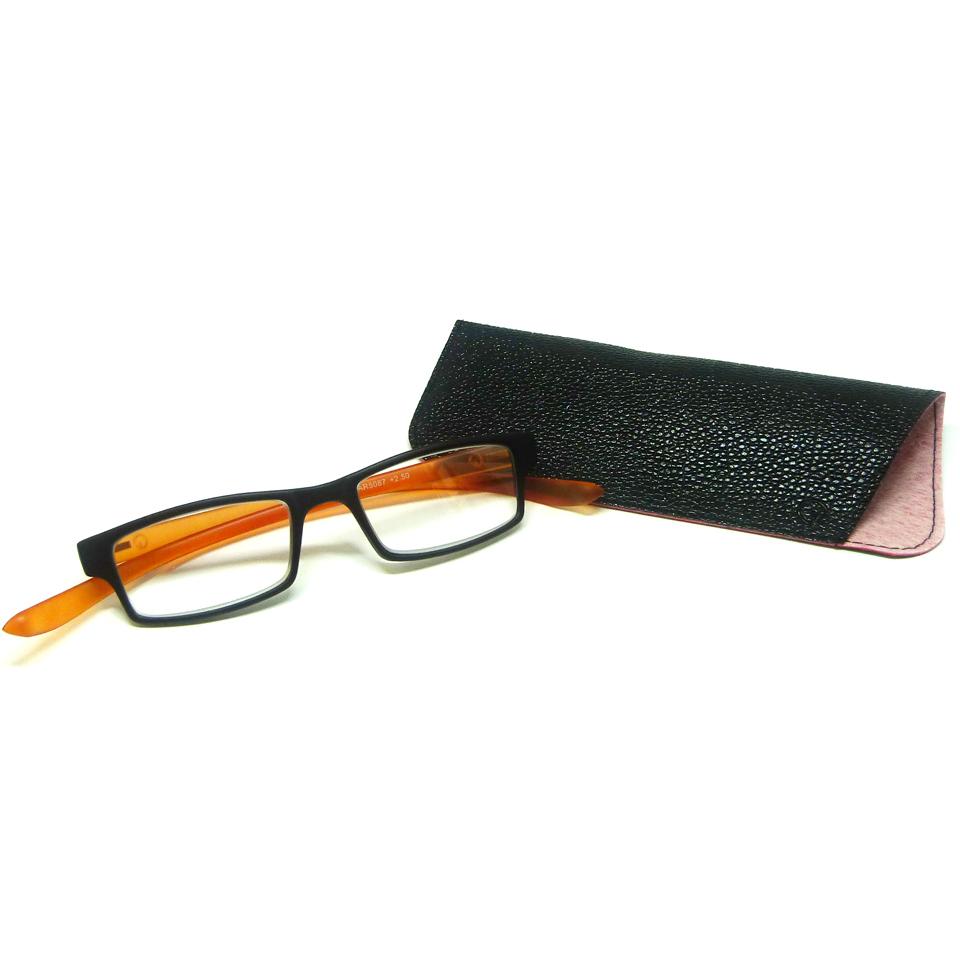 0869043 - Óculos Leitura Retangular Preto/Lar +2,00 Mod AR5087 - Contém 1 Peça