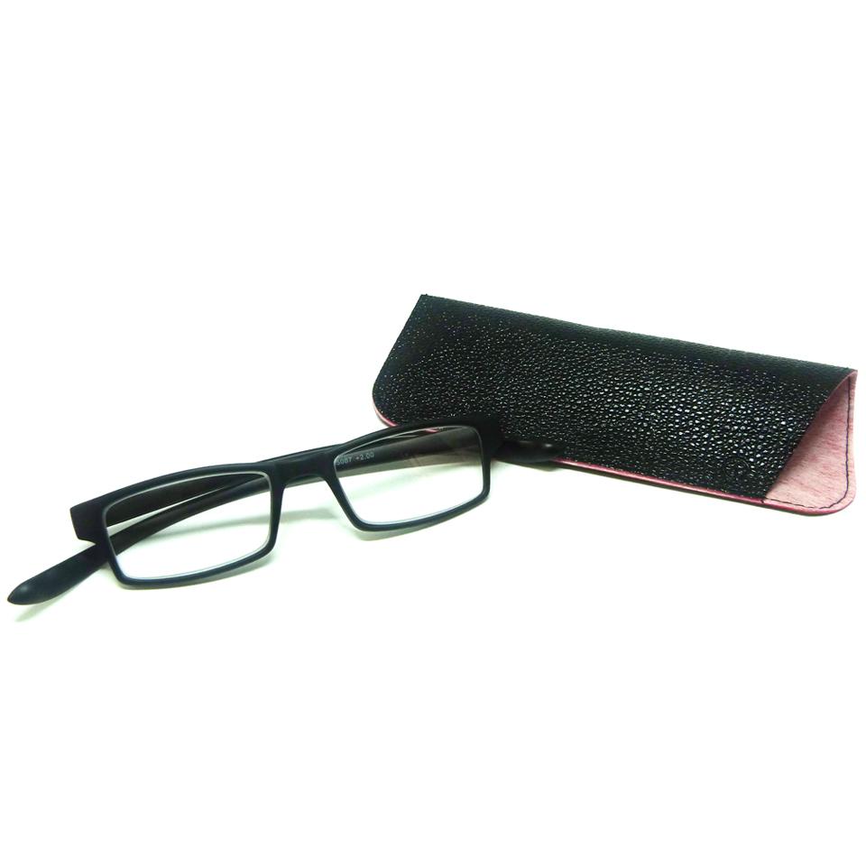 0869012 - Óculos Leitura Retangular Preto +1,50 - Contém 1 Peça