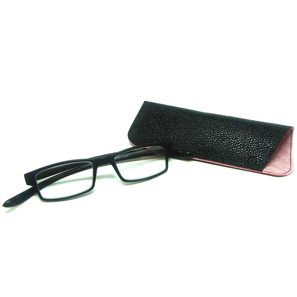 0869013 - Óculos Leitura Retangular Preto +2,00 - Contém 1 Peça