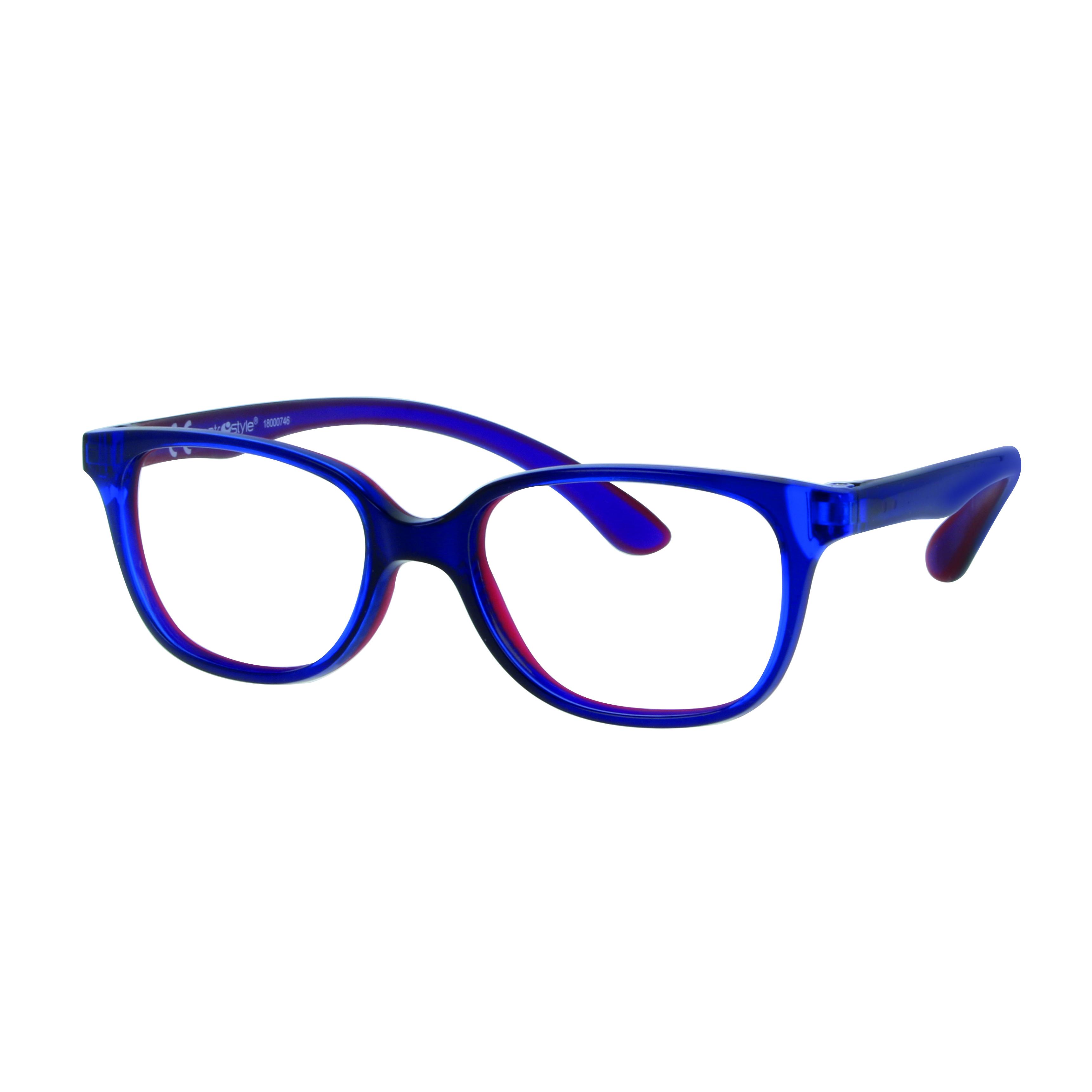 02F008346151000 - Armação Inf Active Rubber TR90/Goma 46x16 Azul/Vermelho Mod F008346151000  -Contém 1 Peça