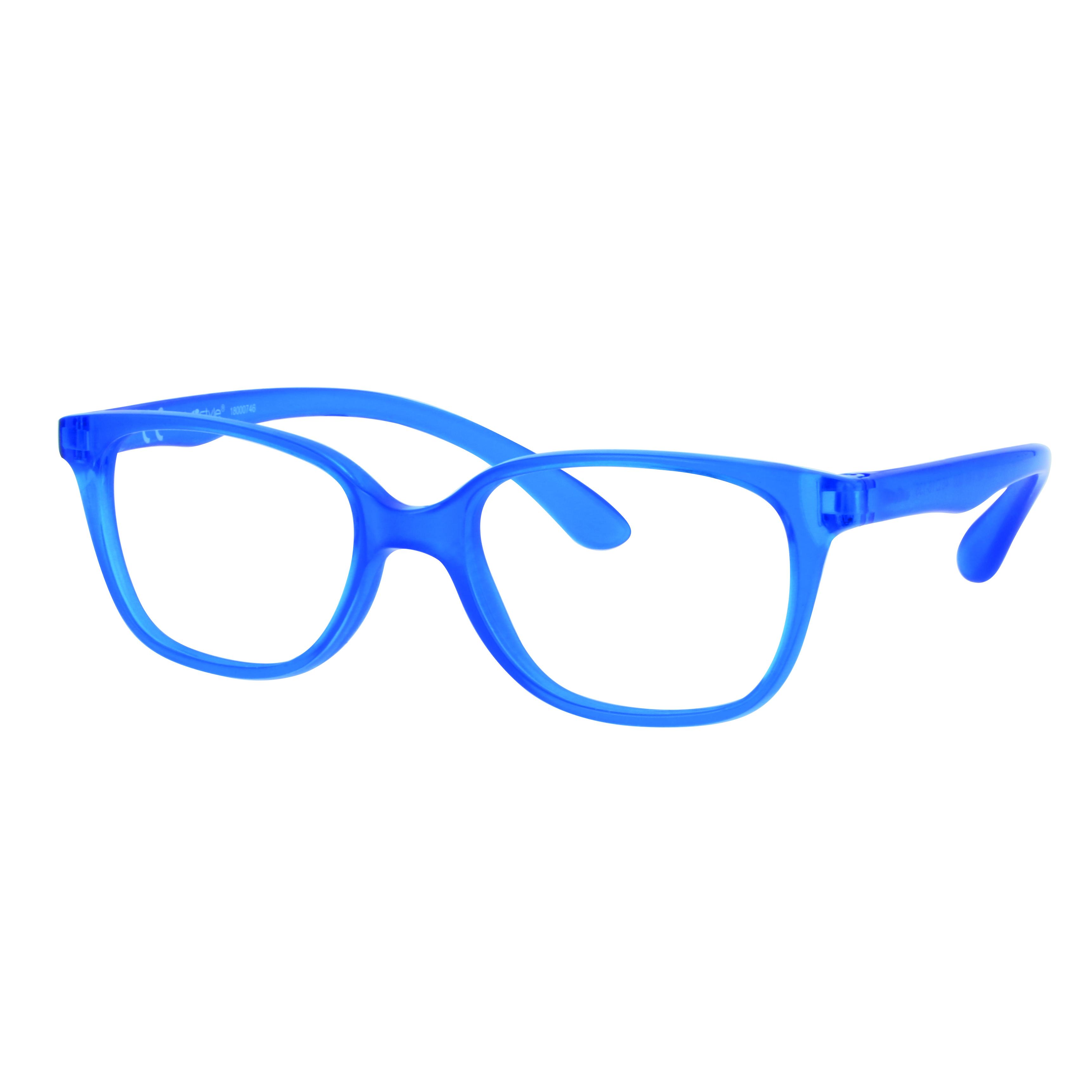 02F008346149000 - Armação Inf Active Rubber TR90/Goma 46x16 Azul Mod F008346149000  -Contém 1 Peça