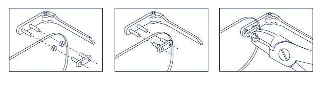0200449S - Prego 02 Duplo Plástico D=1,5mmx7,4mm Soft Mod 449S  -Contém 50 Peças