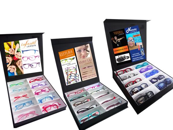 0109015-Expositor Oculos Caixa p/12pçs FLAG E - Contém 1 Peça  - ENTREGA IMEDIATA