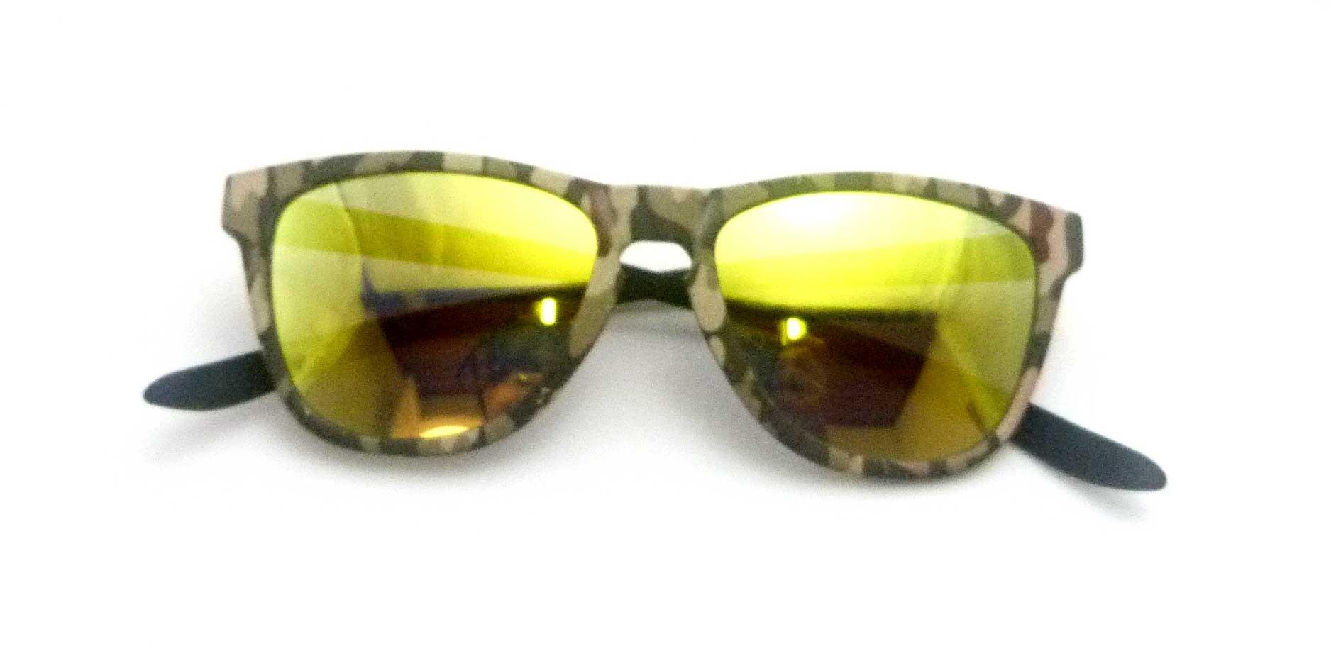 0215115 - Óculos-Solar CS Koala Camuflado 54x17 Verde Mod 15115 FLAG 9  -Contém 1 Peça