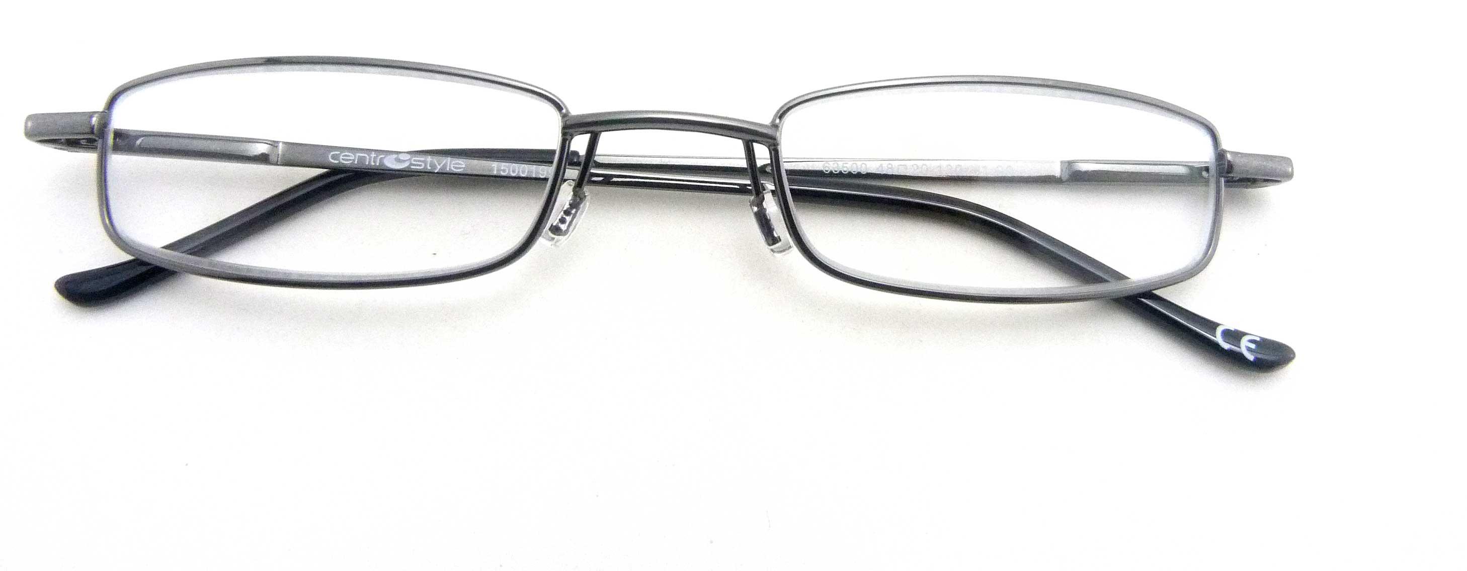 0263502 - Óculos Leitura Flex AT +1,50 GunMetal Mod 63502  -Contém 1 Peça
