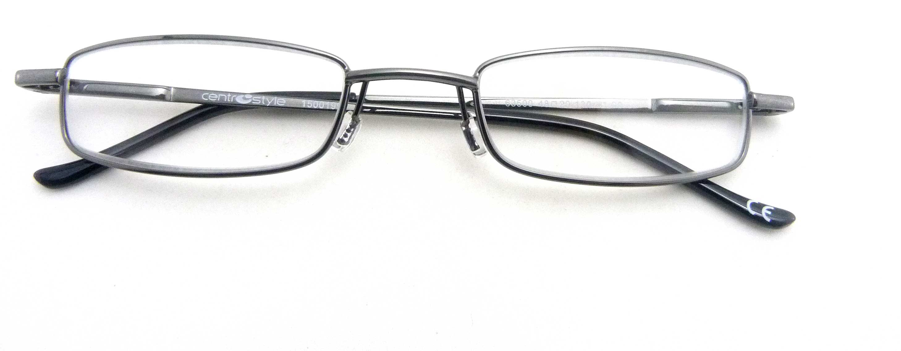0263506 - Óculos Leitura Flex AT +2,50 GunMetal Mod 63506 FLAG 9  -Contém 1 Peça