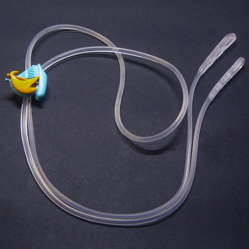 0101072 - Cordão Silicone Bastão Infantil Azul FLAG 9 - Contém 3 Peças