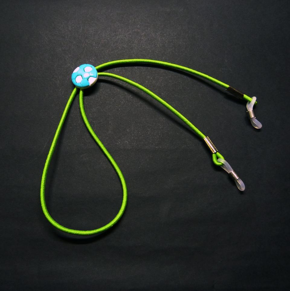 0102084 - Cordão Elastico Infantil Verde Limão - Contém 3 Peças