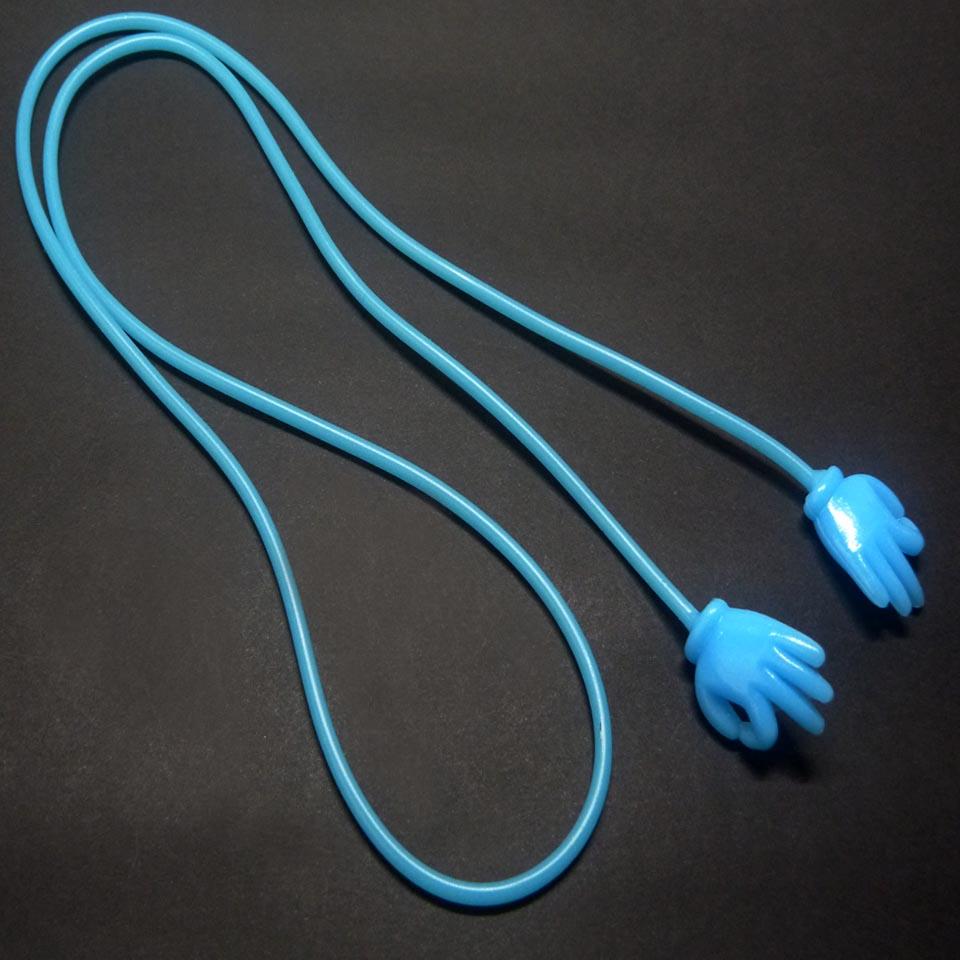 0103042 - Cordão Silicone Terminal OK Azul FLAG 9 - Contém 3 Peças