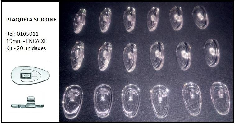 0105011 - Plaqueta Silicone/Simetrica/Encaixe 19mm Mod 1463H FLAG 9  -Contém 20 Peças