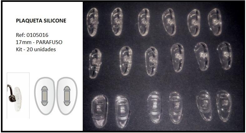 0105016 - Plaqueta 01 Silicone/Assimetrica/Parafuso 17mm Mod 510T FLAG E  -Contém 20 Peças