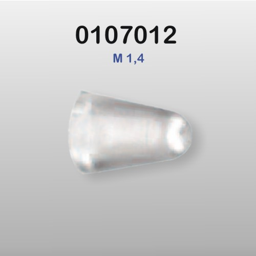 0107012 - Porca Capa Silicone M1,4 - Contém 100 Peças
