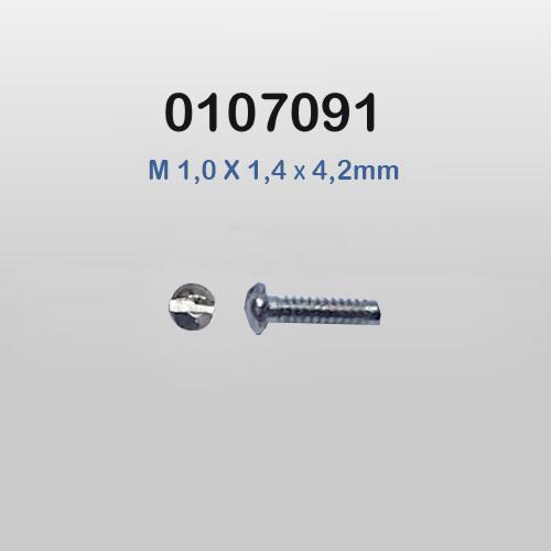 0107091 - Parafuso 01 Aço Plaqueta [RC1,0/CB1,4/CP4,2] Mod 213  -Contém 100 Peças