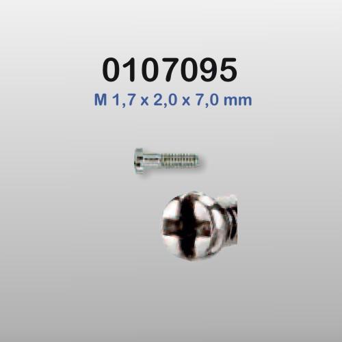 0107095 - Parafuso 01 Aço Korea Grande [RC1,7/CB2,0/CP7,0] FLAG E  -Contém 100 Peças