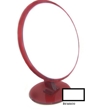 0109006.1-Espelho Acrilico Rddo S/Lente Branco Mod E6RB FLAG 9 - Contém 1 Peça  - ENTREGA IMEDIATA   PRODUTO EM PROMOÇÃO