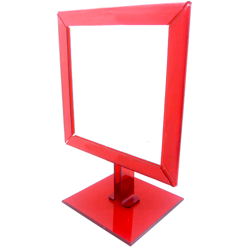 0109007.3-Espelho Acrilico Qddo S/Lente Vermelho Mod E6QD FLAG 9 - Contém 1 Peça  - ENTREGA IMEDIATA   PRODUTO EM PROMOÇÃO
