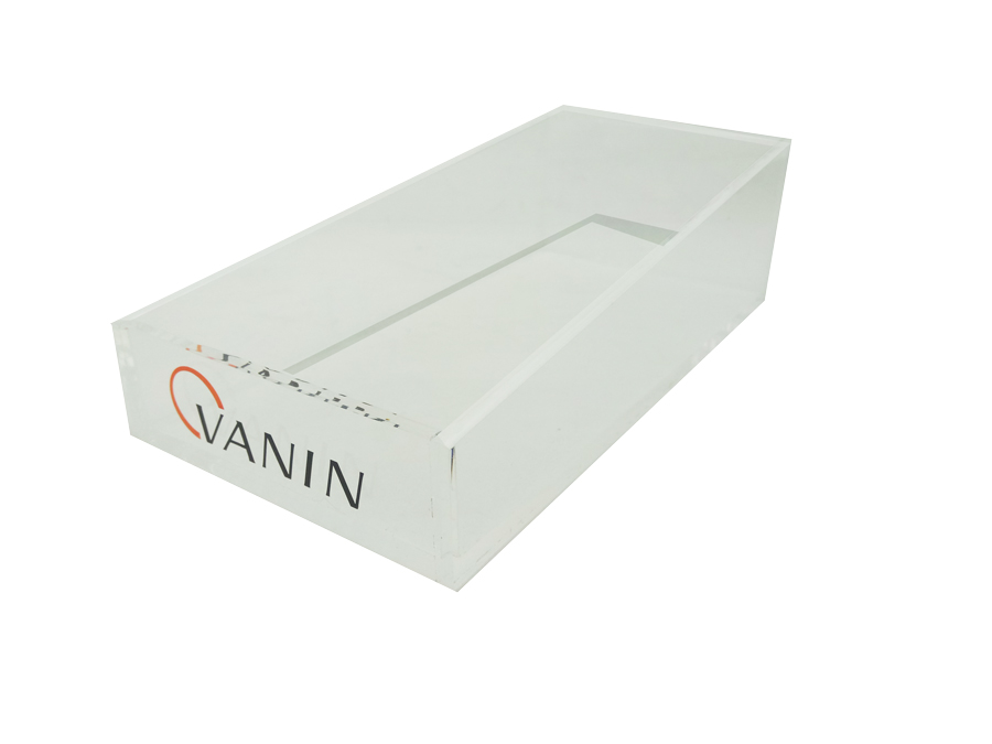 0109018 - Expositor Microfibra/Kit de Limpeza Caixa Acrilico Incolor Vanin - Contém 1 Peça