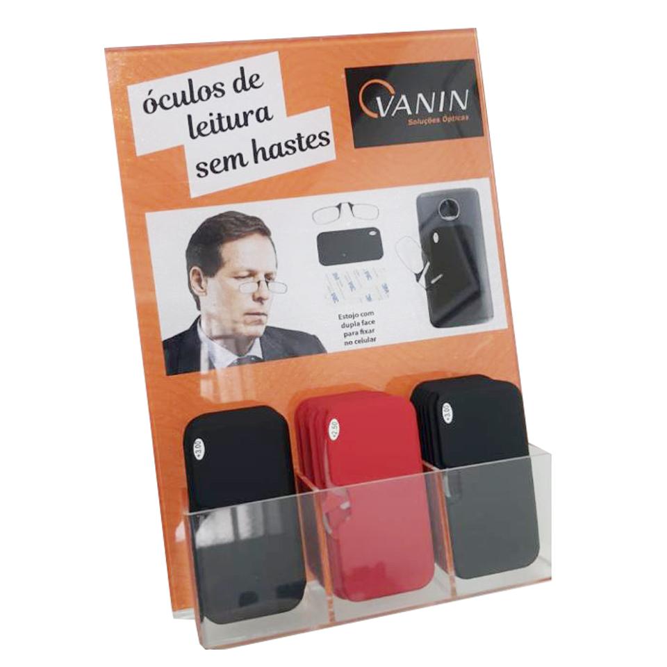 0109043 - Expositor Oculos sem Hastes 24pçs Acrilico - Contém 1 Peça