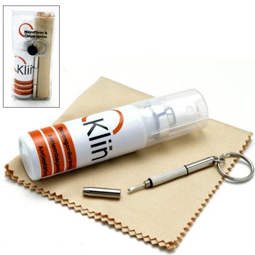 01KL002-Limpa-Lente Kit DeKlin+Microfibra15x18+Chaveiro - Contém 1 Peça  - ENTREGA IMEDIATA