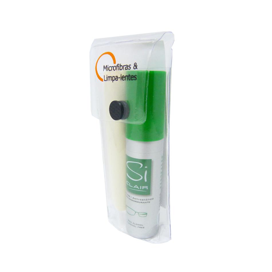 01KL047-Limpa-Lente Kit Siclair Verde+Microfibra15x18 - Contém 1 Peça  - SOB ENCOMENDA