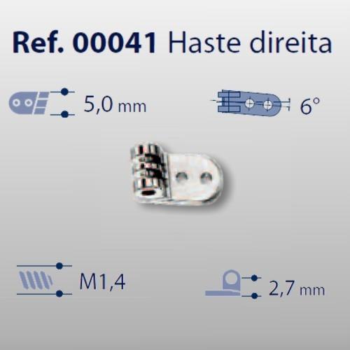 0200041 - Charneira 02 Prego 5,0mm Haste Direita Mod 41 FLAG E  -Contém 20 Peças