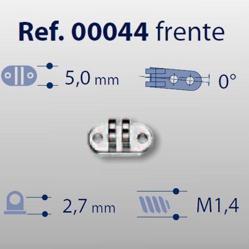 0200044 - Charneira 02 Prego 5,0mm Frontal Mod 44 FLAG E  -Contém 20 Peças