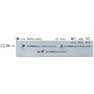 0200062 - Charneira Soldar 3,0mm Haste Mod 62 - Contém 20 Peças