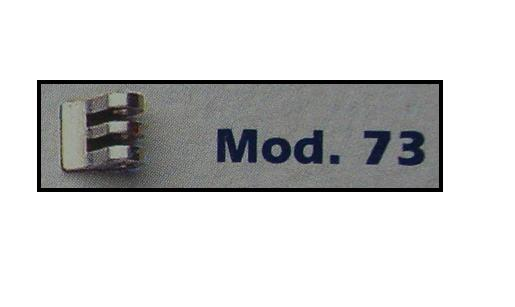 0200073 - Charneira 02 Soldar 4,6mm Frontal Direito Mod 73 FLAG 9  -Contém 20 Peças
