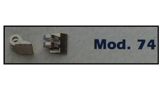 0200074 - Charneira Soldar 4,6mm Haste Mod 74 FLAG 9  -Contém 20 Peças