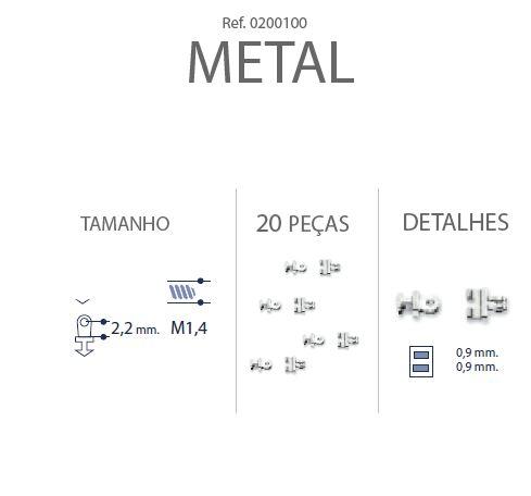 0200100 - Charneira Embutir Ancora Quadrada Mod 100 FLAG E - Contém 20 Peças SOB ENCOMENDA