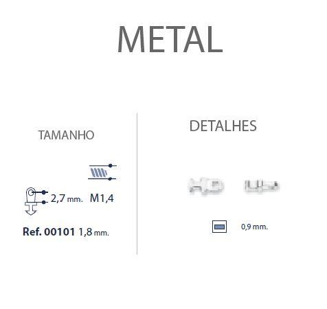 0200101 - Charneira 02 Embutir Ancora Quadrada Mod 101 FLAG E  -Contém 20 Peças