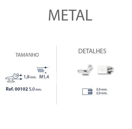 0200102 - Charneira Embutir Ancora Quadrada Mod 102 FLAG E - Contém 20 Peças SOB ENCOMENDA