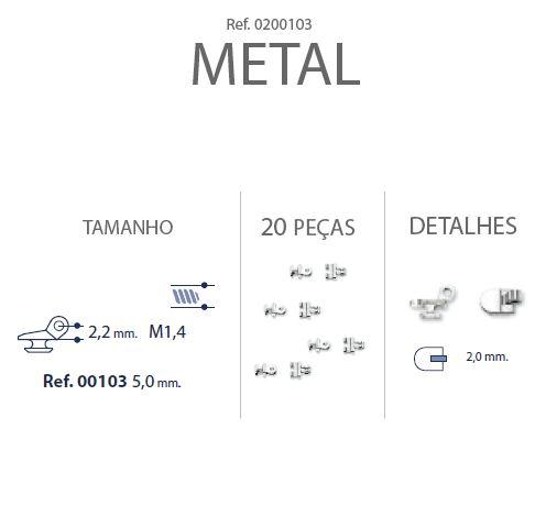 0200103 - Charneira Embutir Ancora Quadrada Mod 103 FLAG E - Contém 20 Peças SOB ENCOMENDA
