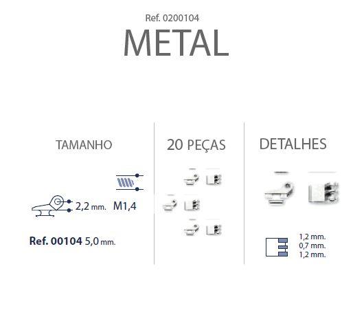 0200104 - Charneira 02 Embutir Ancora Quadrada Mod 104 FLAG E  -Contém 20 Peças